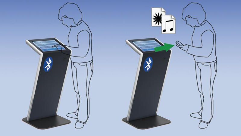 Bluetooth-Infoterminal mit Content Downloads
