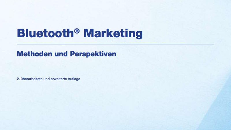 Bluetooth-Marketing, Methoden und Perspektiven, Cover