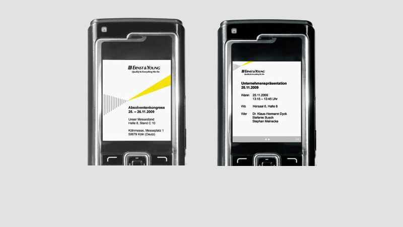 Bluetooth Marketing und Recruiting App für Ernst & Young