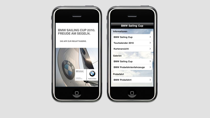 iPhone App BMW Sailing Cup