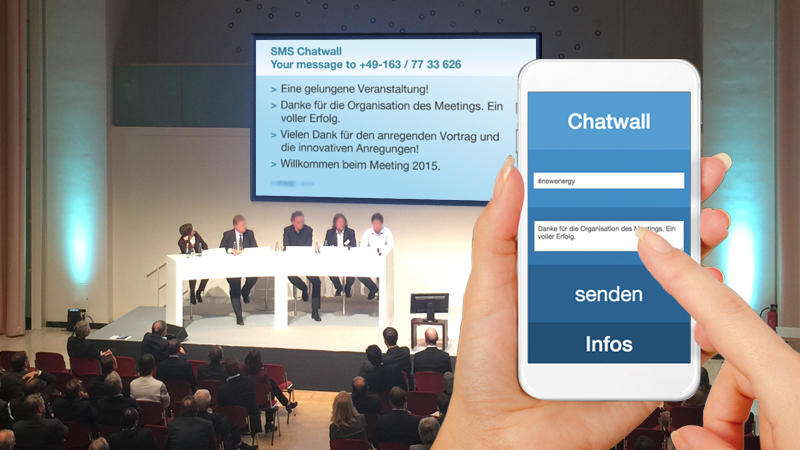 SMS Chatwall, Mobile Marketing und Entertainment