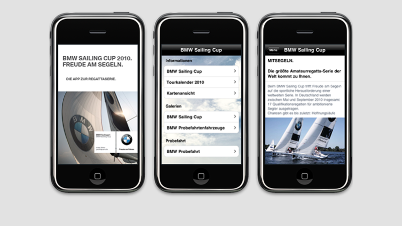 iPhone App zum BMW Sailing Cup